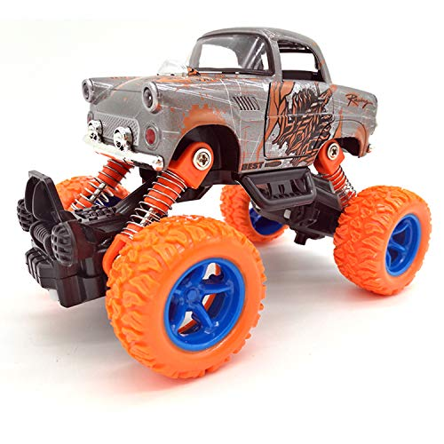Toy car for children-Simulated four-wheel-drive shock-absorber suv climbing before and after four springs of children's alloy toy cars (orange classic car)