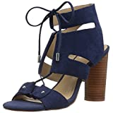 The Fix Women's Page Block Heel Ghillie Dress Sandal, Summer Navy, 10 B US