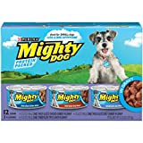 Purina Mighty Dog in Gravy Wet Dog Food Variety Pack – (2 Packs of 12) 5.5 oz. Cans