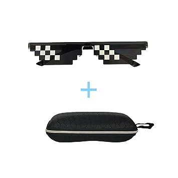 ANPI Gafas de Sol Thug Life, 8 bit Pixels Hombres Mujeres Gafas de Mosaico para Fiestas y Disfraces, Gafas Toy Trendy