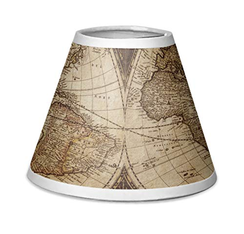 RNK Shops Vintage World Map Chandelier Lamp Shade (World Map Lamp Shade)
