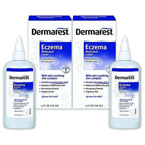 Dermarest Eczema Medicated Lotion | Dermatologist Tested | 4 FL OZ | 2 Pack