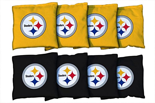 Victory Tailgate Pittsburgh Steelers NFL Cornhole Game Bag Set (8 Bags Included, Corn-Filled)