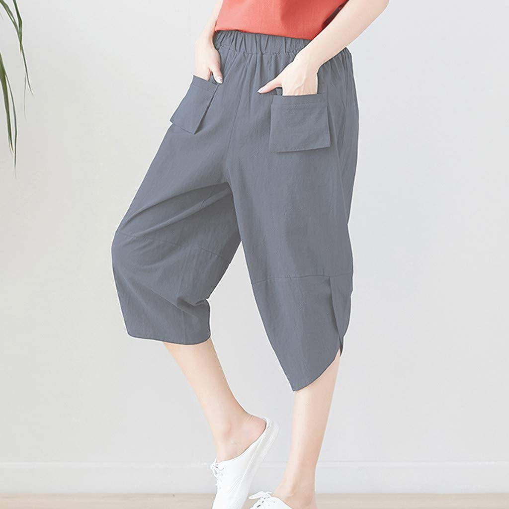 Sinfu Womens Solid Color Perspective Casual Wide Leg Pants High Waist Ruffle Decoration Skinny Trousers