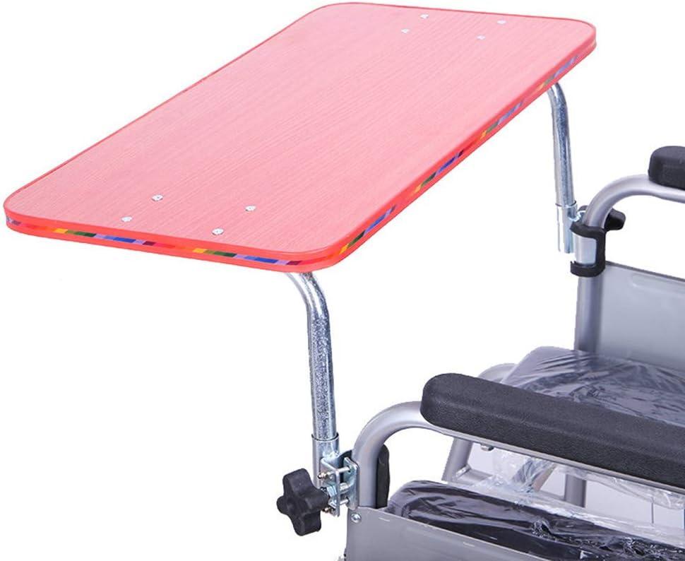GHzzY Bandeja médica de Madera para sillas de Ruedas - Mesa de Accesorios para sillas de Ruedas portátiles - Bandeja Universal para sillas de Ruedas Escritorio para Comer, Leer y Descansar