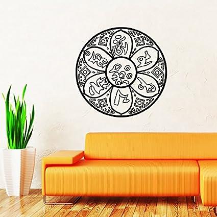 Amazon.com: Mandala calcomanía de pared Namaste mandala de ...