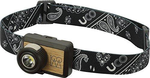 UCO Hundred 100 Lumen LED Headlamp with Real Wood Inlay, Black Bandana (Dark Center Bandana)