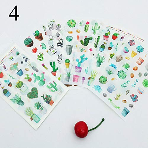 6 pcs/lot DIY Retro Building Cartoon Stickers Scrapbooking Vintage European Style Sticky Paper Craft Home Decoration Supplies