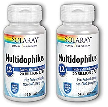 Solaray Multidophilus 20 Billion CFU, Suplemento Alimenticio, 50 cápsulas