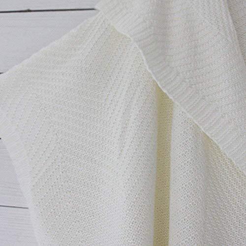 Mujeres Lotes Sólido Larga Punto Chaqueta Del Tamaño Gran Señoras Manga Las De Beige Blusa Camiseta Exterior Capa La Tops Oudan Suéter Ropa Abrigo a8ASgwvnq