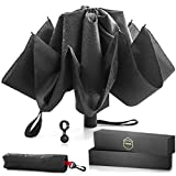 His Private Items Upside Down Reversible Umbrella - Automatic Open and Close - with Waterproof Canopy & Inverted Ribs That Folds Backwards - Nice Size for Travel