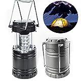 elegantstunning 30LEDs Portable Battery Powered Super Bright Collapsible Outdoor Camping Lantern Light Lamp