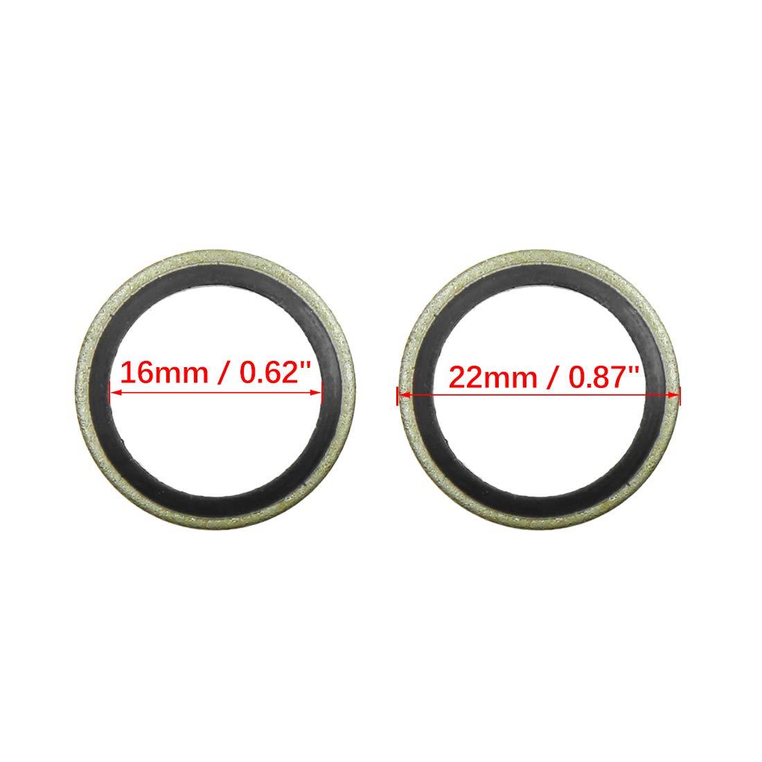 X AUTOHAUX 20pcs Oil Crush Washers Drain Plug Gaskets 12mm ID 18mm OD.