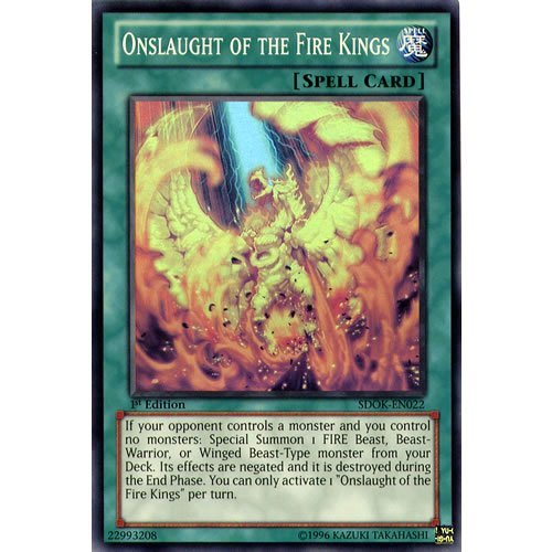 Onslaught Single (YuGiOh : SDOK-EN022 1st Ed Onslaught of the Fire Kings Super Rare Card - ( Onslaught of the Fire Kings Yu-Gi-Oh! Single Card ) by Deckboosters)