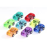 24pcs/lot Mini Transparent Pull Back Cars Model Set for Kids and Toddlers,Plastic Pull Back Diecast Car Toys for Party Favor Giveaway