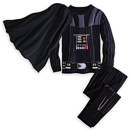 Star Wars Darth Vader Costume PJ PALS Pajamas for Boys Size 5 Black -