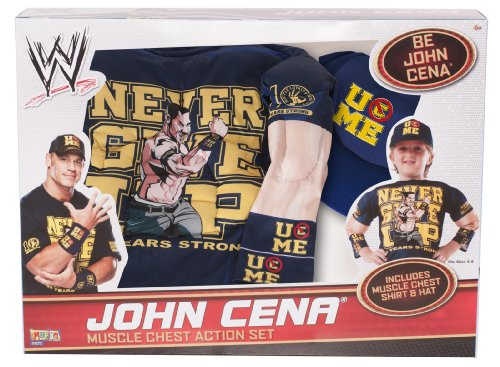 WWE John Cena Muscle Chest Shirt Costume Set