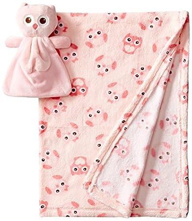 Amazon.com : Baby-Girls recién nacido Manta 2 piezas con el búho de ...