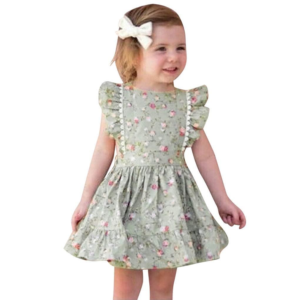 Darringls Vestito Bambini Abito Donna Estate Stampa Floreale Abito Casual Vestiti Bambina Vestito Lungo Elegante Gonna Tutu Ragazze Dresses 2019 Nuovo 0-8 Anni