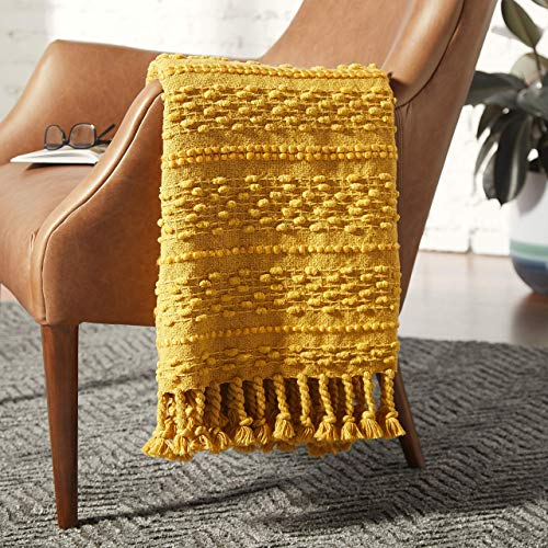 - Rivet Contemporary Raised-Texture Throw Blanket, 60