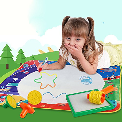 MSOO New Water Drawing Painting Writing Mat Board Magic Pen Doodle Gift 71 * 58cm (B) -