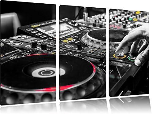 Dipinti Murali E Pittura Ad Ago : Pixxprint illuminato moderno 3 pezzi immagine dj console nero bianco