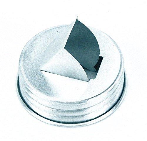 Unique Useful Mason Jar Aluminum Grain Dispenser Lid, Rice,