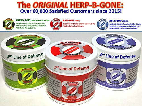 MD-FORMULATED HERP-B-GONE Bundle (Save 20%!): Red, Green & Blue-Tops: for Herpes Treatment, Cold Sores, Shingles, Molluscum, Impetigo, MRSA & More!