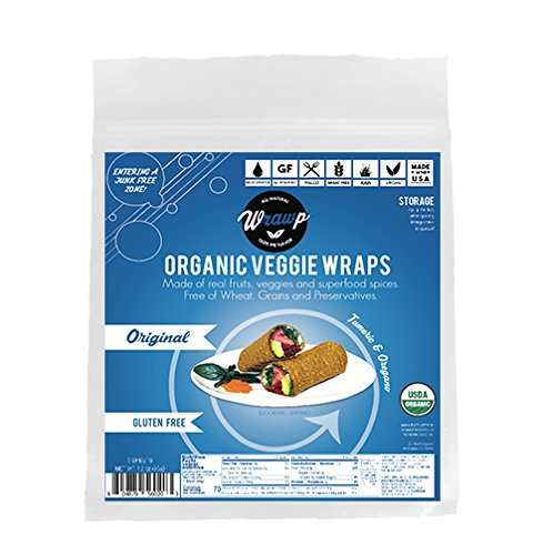 Raw Organic Mini Original Veggie Wraps | Wheat-Free, Gluten Free, Paleo Wraps, Non-GMO, Vegan Friendly Made in the USA