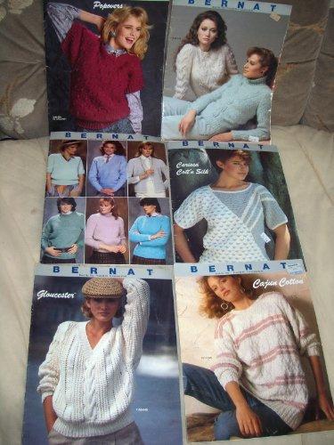 Bernat Knit & Crochet Color Illustrated Pamphlet (6 Vol. Set * Popovers #583, *Knits #512, Gloucester #545, Sets #513, Carioca #528, Cajun #595 (Set Popover)