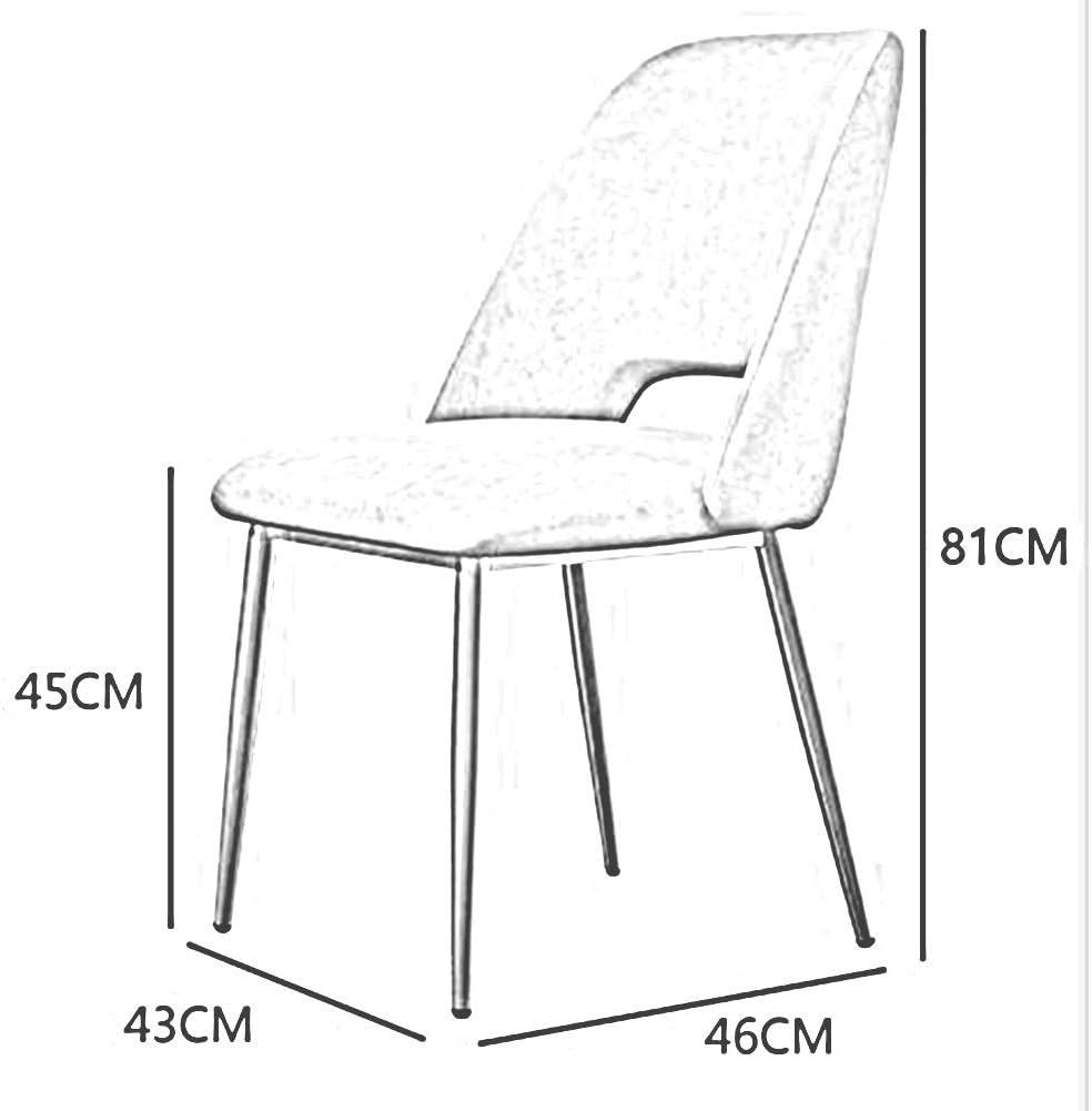 WYYY chaises Chaises De Salle À Manger Tissu Lisse Rétro Jambes En Métal Coussin Doux Cuisine Salon Meubles Assemblé Durable fort (Color : Purple) Black