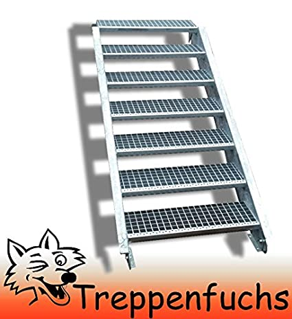 7 Stufen / 100cm breit / Höhe 100 - 140cm