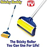 "Jumbo Sticky Buddy - Reusable Washable Clothes Lint Pet Hair Fluff Remover - 8"" Roller"