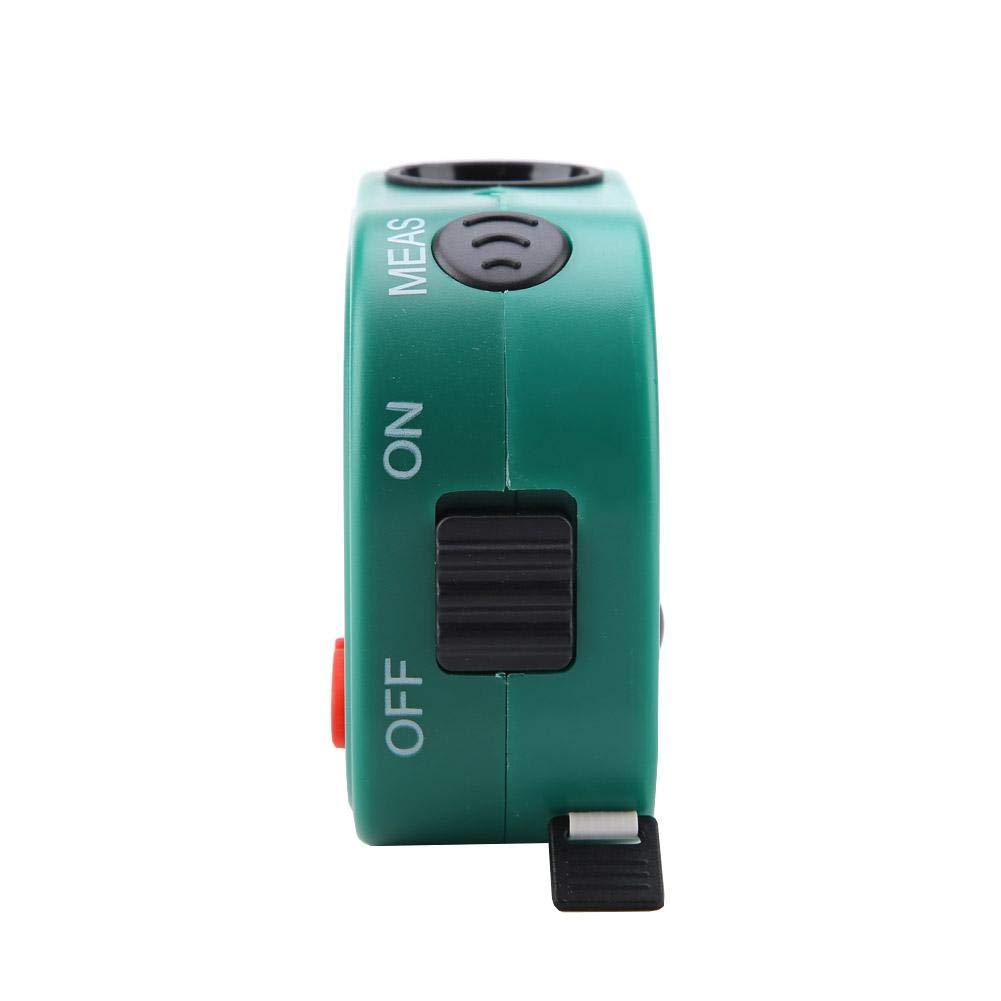medidor de distancia digital con pantalla LCD grande para medir habitaciones a trav/és de cinta electr/ónica Medidor de distancia ultras/ónico de mano Wal frontal