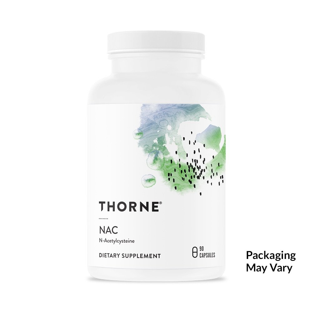 Thorne Research - Cysteplus - N-Acetylcysteine (NAC) for Liver Support, Detoxification, and Immune Function - 90 Capsules