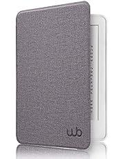 Capa Kindle Paperwhite Ultra Leve - Auto Hibernação Sensor Magnético Silicone Flexível Estilo Tecido Lilás