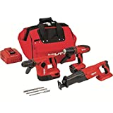 Hilti 3482524 18-Volt Lithium-Ion Cordless Rotary Hammer Drill/Hammer Drill Driver/Reciprocating Saw Combo Kit