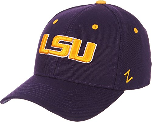 Zephyr Men's LSU Tigers Purple DH Fitted Hat (7. 5/8) ()