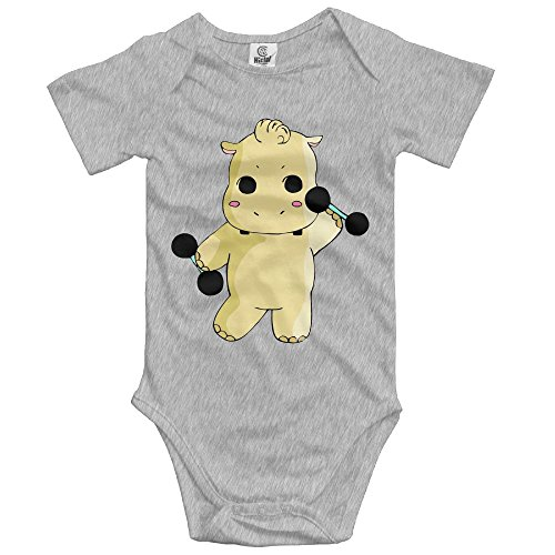 woonmo Unisex Infant Bodysuits Hippo Boys Babysuit Short Sleeve Jumpsuit Sunsuit Outfit Newborn Ash