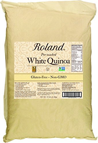 Roland Quinoa, White, 25 Pound by Roland Foods