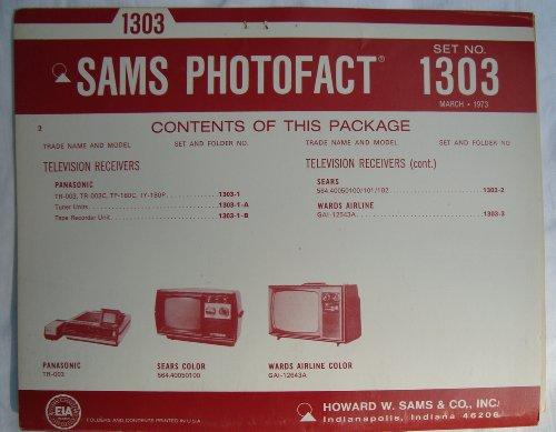 Sams Photofact Folder Set 1303, (March, 1973) ()