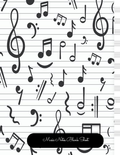 Read Online Music Notes Blank Sheet: Empty Staff, 12 Stave Manuscript Sheets Notation Paper For Composing For Musicians,Teachers, Students, Songwriting. Book Notebook Journal 100 Pages 8.5x99 pdf