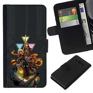 NEECELL GIFT forCITY // Billetera de cuero Caso Cubierta de protección Carcasa / Leather Wallet Case for Samsung Galaxy A3 // Personajes del juego