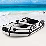 2 Person 7.5 ft Inflatable Fishing Tender Rafting Dinghy Boat - By Choice Products
