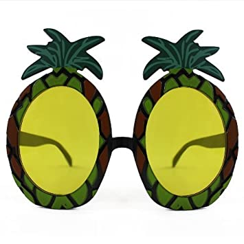 3 x Pineapple Sunglasses Glasses Specs Hawaiian Hula Fancy Dress Up Costume Accessory by Henbrandt 2PKplARuQ