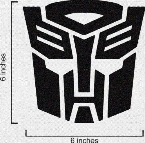Transformers Autobot Logo Vinyl Sticker Decal-Black-6 Inch