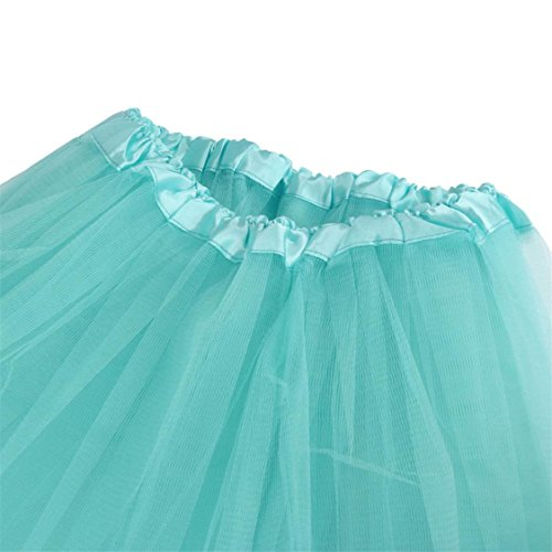 Sale Womens mesh Pleated Blue Waist Tutu Light Solid Adult Mesh TIFENNY Dress Gauze High Half Skirt Hot Dancing d5vwq0fU5