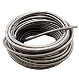 Okeler AN8 Fuel Line Hose Stainless Steel Braided 11.12mm ID 1500 PSI -8AN AN8 8-AN Oil Fuel Gas Hose Line Sold by Foot