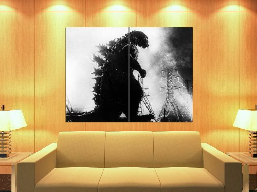 Godzilla 1954 BW Film Movie Retro Vintage 47x35 Huge Giant Print Poster