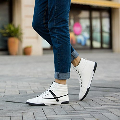Clearance❤️Men Shoes, Neartime Fashion Men Autumn Leather Footwear Boots High Top Lace-Up Casual Hiking Shoes by Neartime Sandals (Image #2)